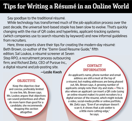 tip for writing a resume in an online world - Resume Tip